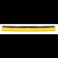 Guma nubrauktuvui, Haug Bürsten, 620x40x20 mm, geltona