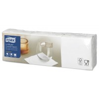 Tork LinStyle® baltos spalvos servetėlės, 150 vnt.,Tork
