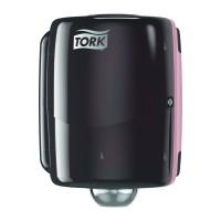 Tork Maxi Centrefeed iš ritinio vidurio traukiamų lapelių dozatorius, juodas/raudonas, W2, Tork
