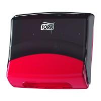Tork sulankstytų šluosčių dozatorius, juodas/raudonas, W4, Tork