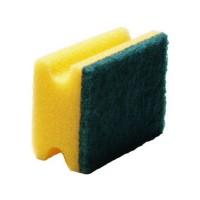 Kempinė, 130x70x45 mm, geltona/žalia, Meiko