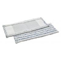Mikropluošto šluostė grindims, 400x130 mm, balta, mėlyna, TTS
