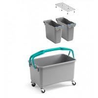 WC valymo rinkinys Eroy, 575x335x475 mm, 28 l, pilkas, TTS