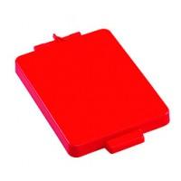 Dangtis 70 l šiukšlių maišų laikikliui, 350x230 mm, raudonas, TTS