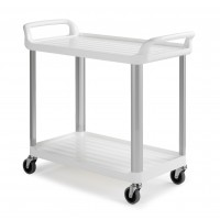 Vežimėlis virtuvėms, baltas, TTS