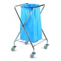 Vežimėlis šiukšlių maišui, TTS, 620x600x1020 mm, 120 l, pilkas