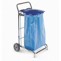 Vežimėlis šiukšlių maišui, 580x580x1020 mm, 120 l, pilkas, TTS