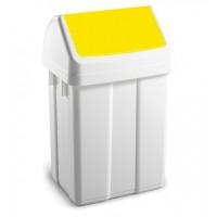 Šiukšlių dėžė MAX, 200x230x400 mm, 12 l, balta, geltona, TTS