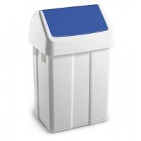 Šiukšlių dėžė MAX, 200x230x400 mm, 12 l, balta, mėlyna, TTS