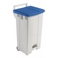 Šiukšlių konteineris Derby, TTS, 480x520x930 mm, 90 l, baltas, mėlynas