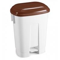 Šiukšlių dėžė Derby, 500x360x680 mm, 60 l, balta, ruda, TTS