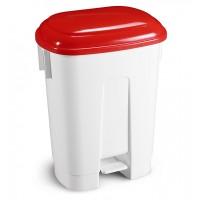 Šiukšlių dėžė Derby, TTS, 360x500x680 mm, 60 l, balta, raudona