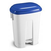 Šiukšlių dėžė Derby, TTS, 360x500x680 mm, 60 l, balta, mėlyna