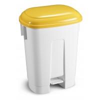Šiukšlių dėžė Derby, TTS, 360x500x680 mm, 60 l, balta, geltona