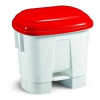 Šiukšlių dėžė Derby, 500x360x480 mm, 30 l, balta, raudona, TTS