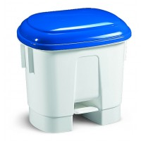 Šiukšlių dėžė Derby, TTS, 360x470x510 mm, 30 l, balta, mėlyna