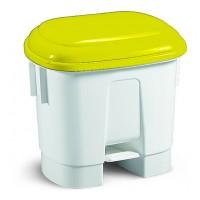 Šiukšlių dėžė Derby, TTS, 360x470x510 mm, 30 l, balta, geltona