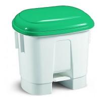 Šiukšlių dėžė Derby, TTS, 360x470x510 mm, 30 l, balta, žalia