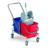 Vežimėlis valytojai, TTS, 720x410x830 mm, 30 l, pilkas