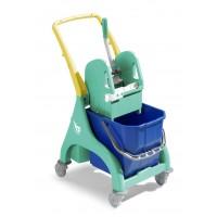 Valytojos vežimėlis Nick, TTS, 740x430x910 mm, 25 l, žalias