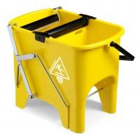 Dvigubas kibirėlis valytojai Squizzy, TTS, 15 l, 460x320x360 mm, geltonas