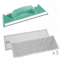 Stiklo valymo komplektas, TTS, 320x105 mm, žalia, pilkas