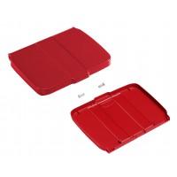 Dangtis su dėžute šiukšlių maišo laikikliui, raudonas, TTS