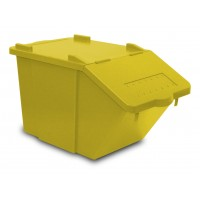 Atliekų rūšiavimo dėžė Split, TTS, 510x300x315 mm, 45 l, geltona