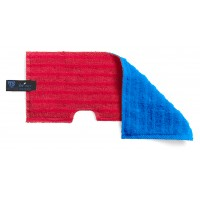 Dvipusė šluostė grindims, TTS, 400 mm, mėlyna, raudona