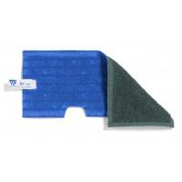 Dvipusė šluostė grindims, TTS, 400 mm, mėlyna, žalia
