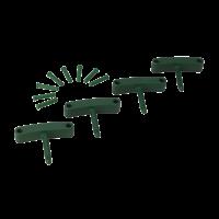 Kabliukai sieniniam laikikliui, 4 vnt., 140 mm, žalias, Vikan