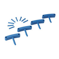 Kabliukai sieniniam laikikliui, 4 vnt., 140 mm, mėlynas, Vikan