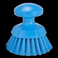 Apvalus rankinis šepetys, Ø110 mm, mėlynas, Vikan