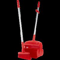 Semtuvėlis su šluotele, 370 mm, raudonas, Vikan