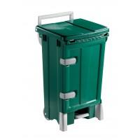 Šiukšlių konteineris Open Up, 500x520x930 mm, 90 l, žalias, TTS